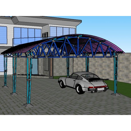 Dome Roof Two Car Carport